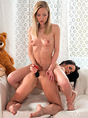 Sicilia licks Francys Belle's pussy and toys her ass