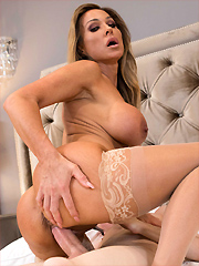 Aubrey Black bangs her stepson at her bachelorette party