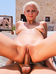 Julia Parker takes a hard pounding in the blistering sun