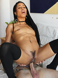 This scene features Kira Noir and Small Hands revisiting their intense and playful chemistry together. They eagerly kiss each other and both want to give the other pleasure immediately. They share really passionate moments and Kira edges him close to cumming throughout the scene. Kira has a beautiful orgasm while he fucks her and uses a Hitachi on her. The scene ends with Kira riding his cock in reverse cowgirl until he can't resist any longer and fills her up with cum.
