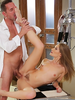 Sexy Tiffany Tatum uses her feet to please her man David Perry. He can't resist her sweet feet and her wet pussy!
