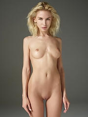 Stunning blonde beauty Marika posing in nude portraits in Hegre studio