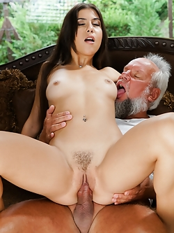 Anya Krey looks like an innocent babe, but she is kinky deep inside and she has another secret: her sugar daddy Albert. She isn't shy to accept she likes older cock that pounds her like no young man can.