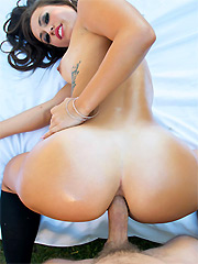 Kelsi Monroe moans while getting her thick booty drilled