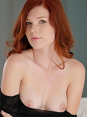 Super sexy nude redhead gets exposed