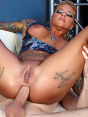 Britney Shannon gets her pussy and asshole pounded by a roadie