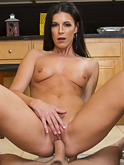India Summer on her knees sucking cock
